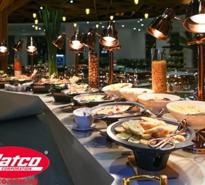 Đèn hâm nóng và giữ nóng thức ăn cho nhà hàng khách sạn, tiệc buffe